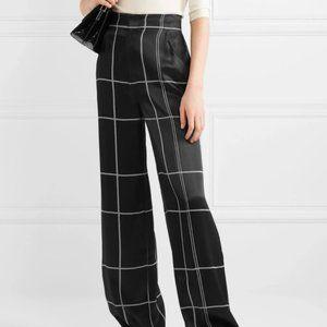 Equipment trousers plaid pants satin